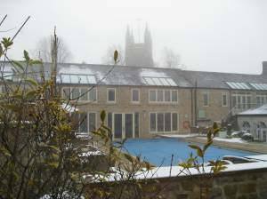 A foggy Fev from our window